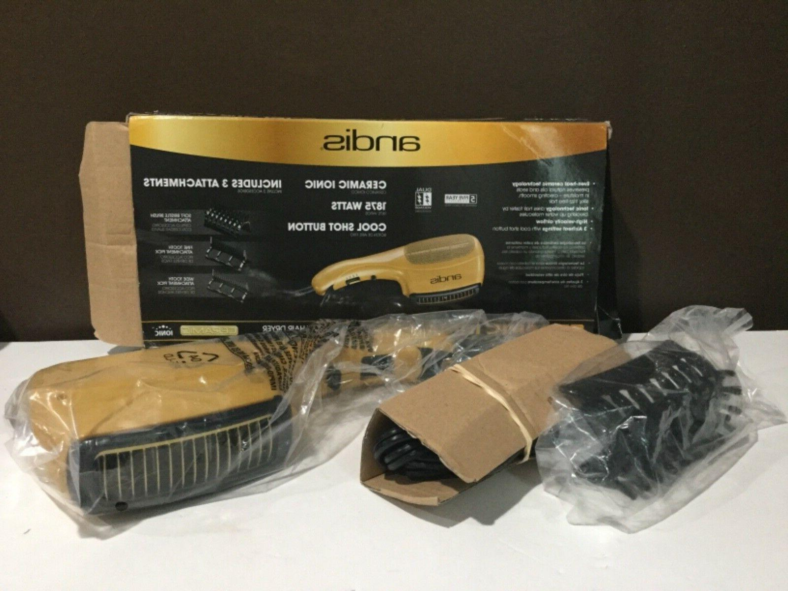 Andis Ceramic Ionic 1875w Hair Dryer 1 Attachments Check