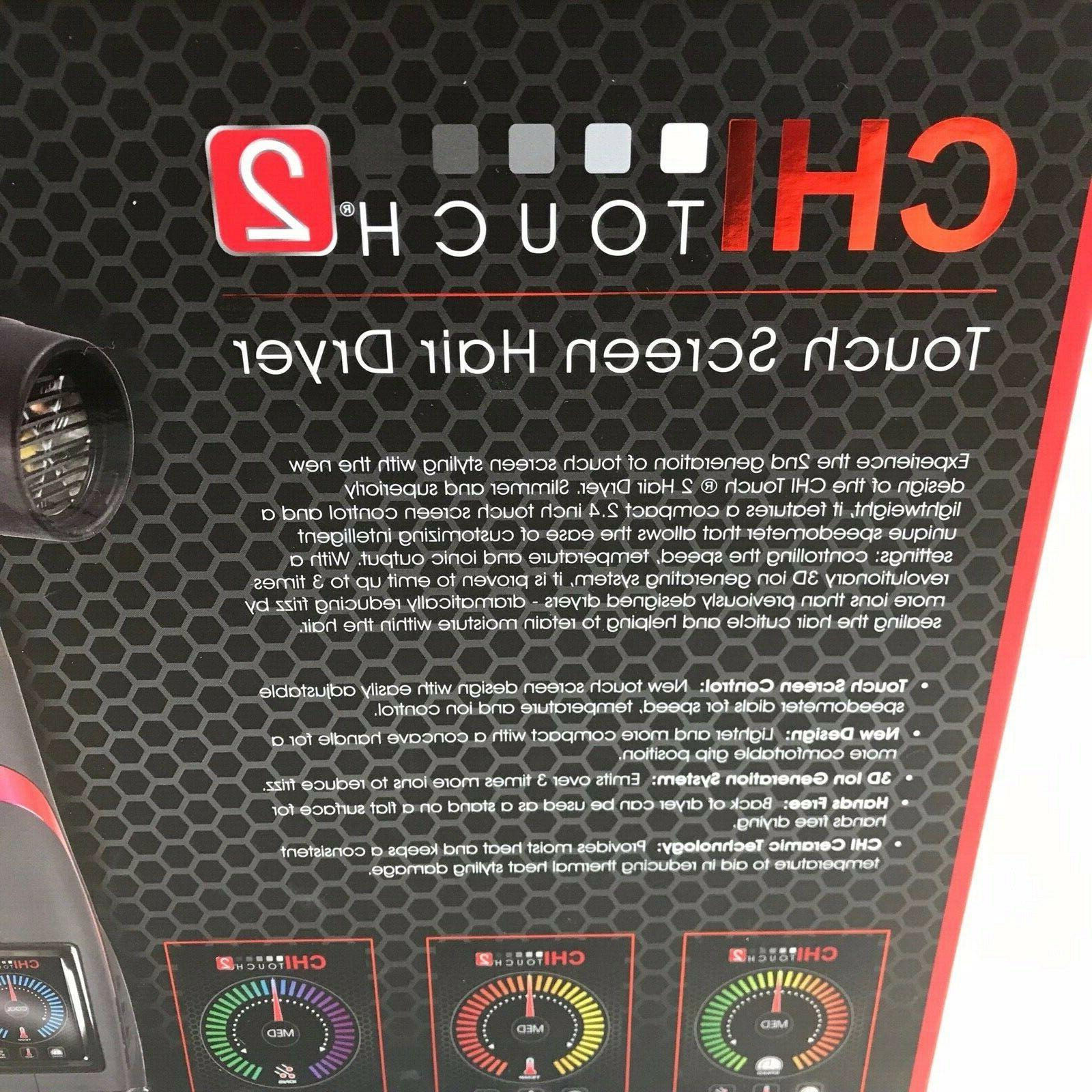 CHI TOUCH 2 LOW EMF HAIR DRYER - NEW - 2nd
