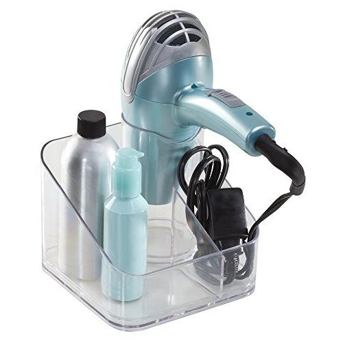 InterDesign Clarity Counter Top Hair Dryer Holder