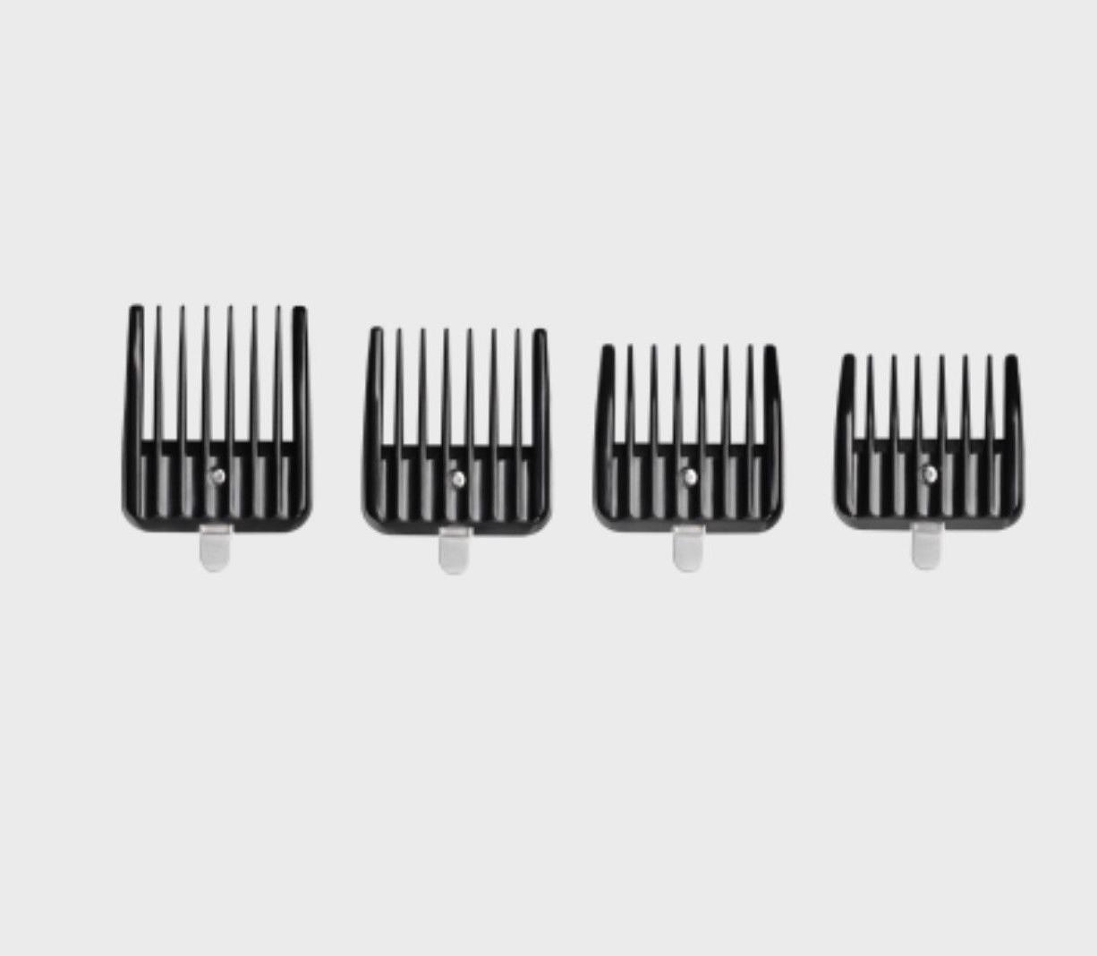 ANDIS ATTACHMENT COMBS 4 COMB SET ON BLADE