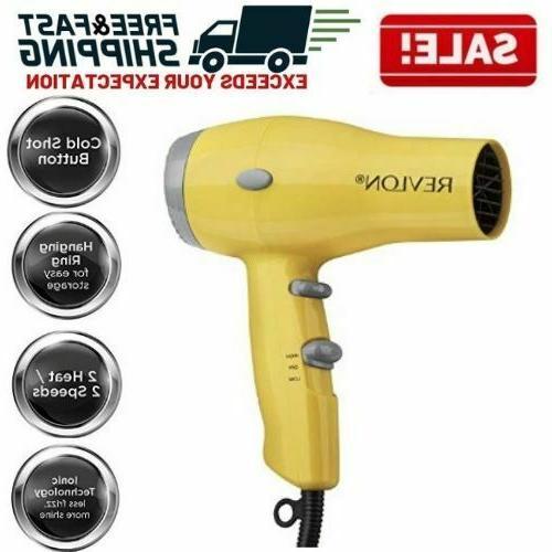 compact hair dryer ionic 2 speed heat