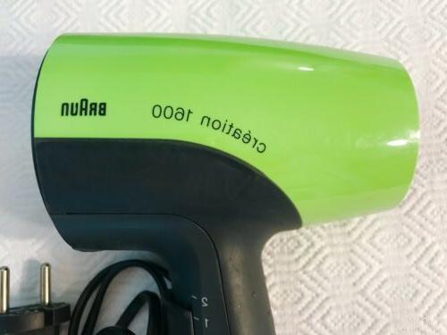 creation 16000 hair dryer european plug never