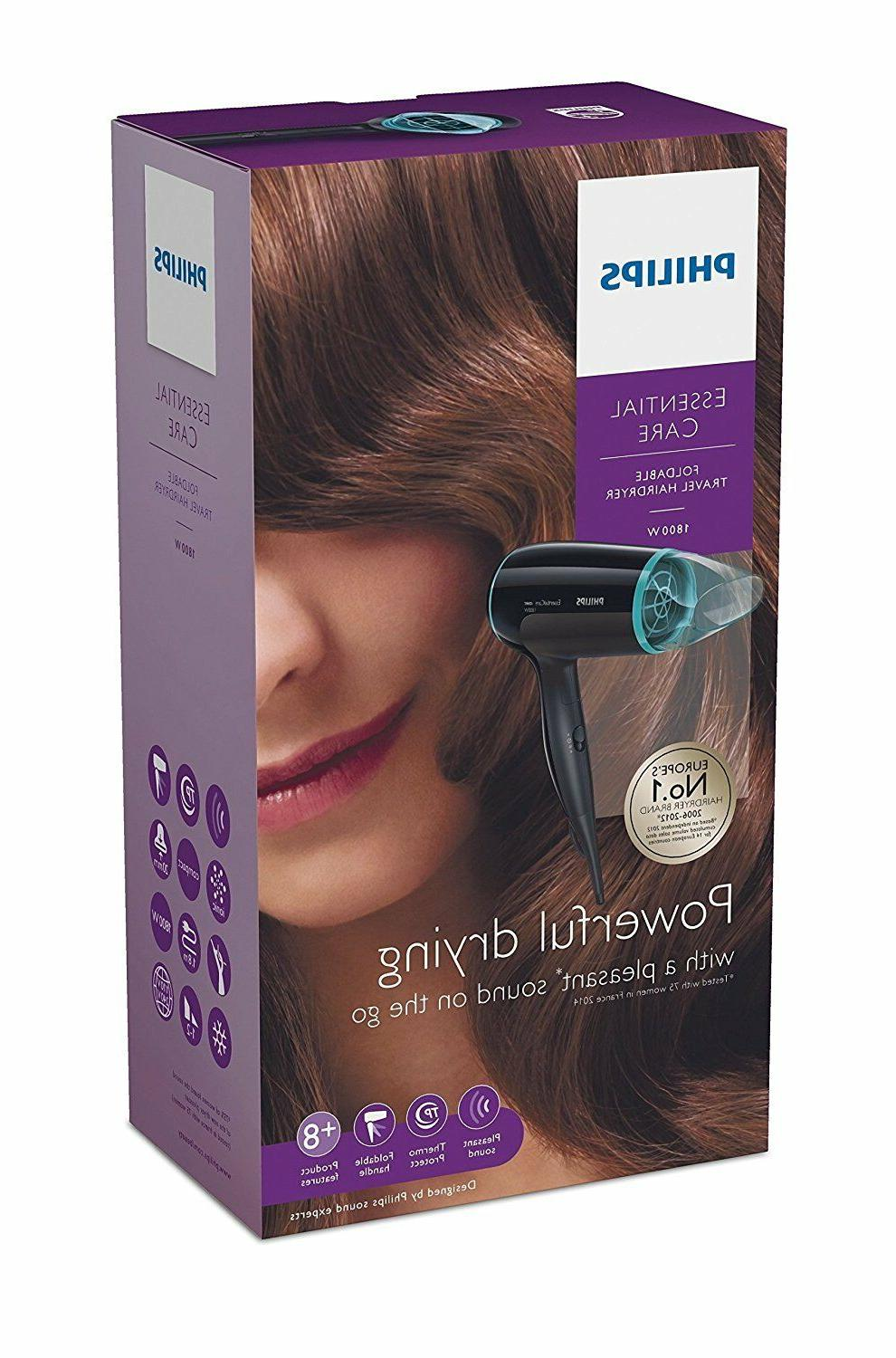 Philips Care Foldable Travel HAIR DRYER BHD007/20 Free Ship