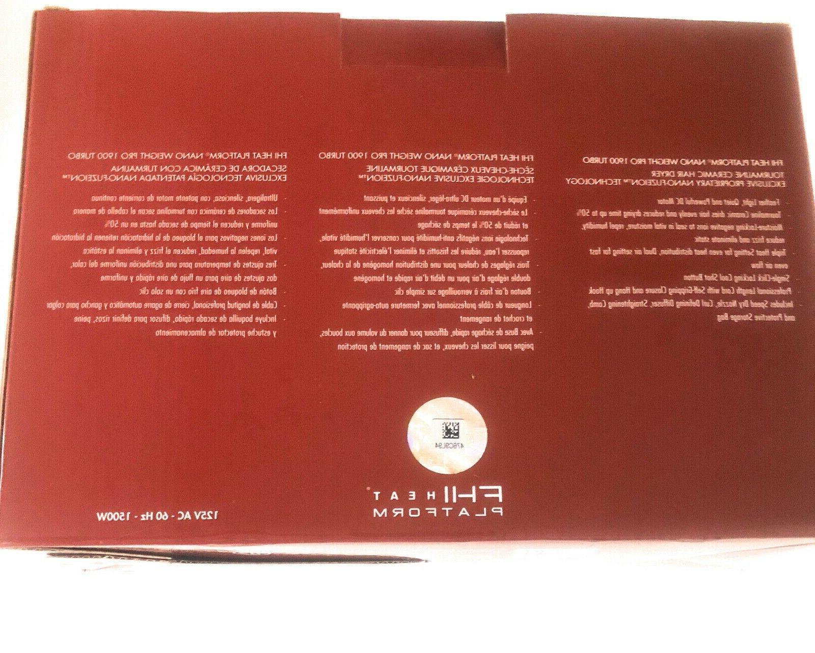 FHI Nano Weight Pro1900 Turbo Tourmaline Ceramic Hair