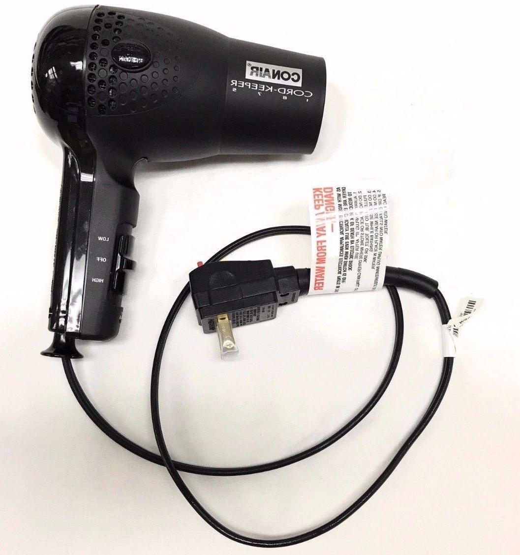 Conair Hair Blow Dryer 1875 Ionic Dual Volt Keeper