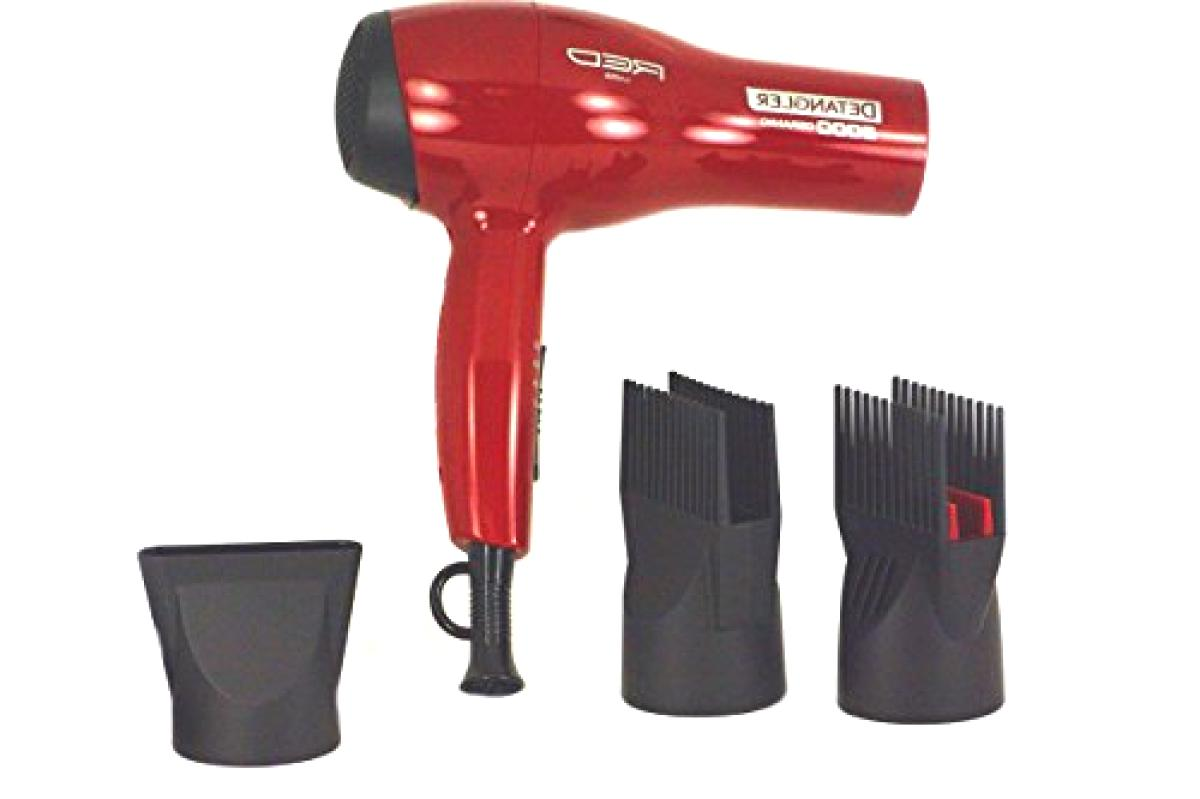 with 3 Comb Attachments Red for Styling Straighten Drying