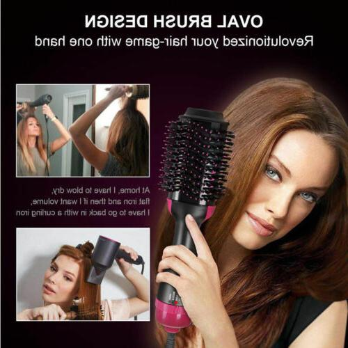Hair Dryer One Step Curling Brush Bristles US