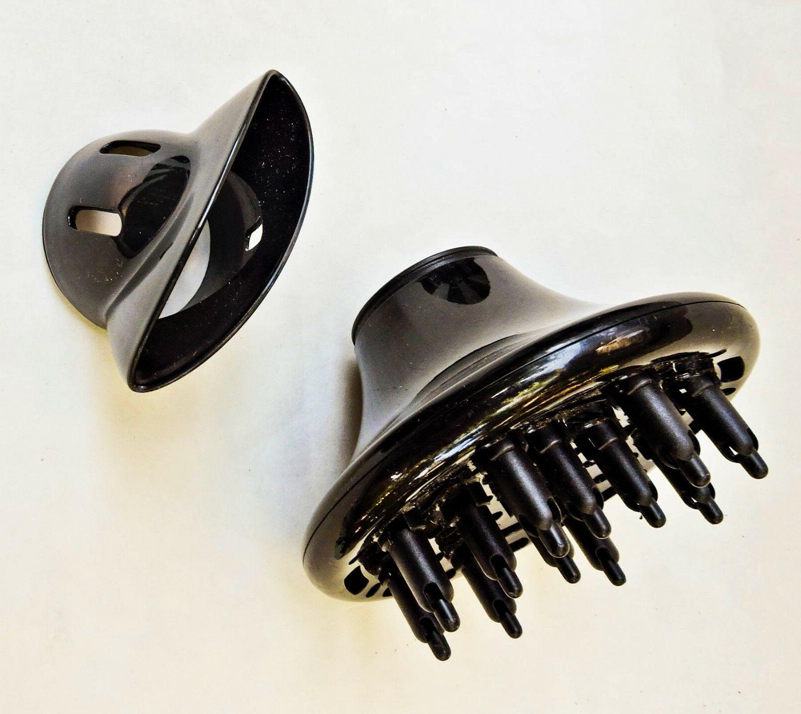 VIDAL SASSOON HAIR DRYER ATTACHMENTS FINGER DIFFUSER AND STY