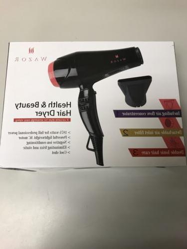 Wazor Hair Dryer Professional Negative Ionic Cool