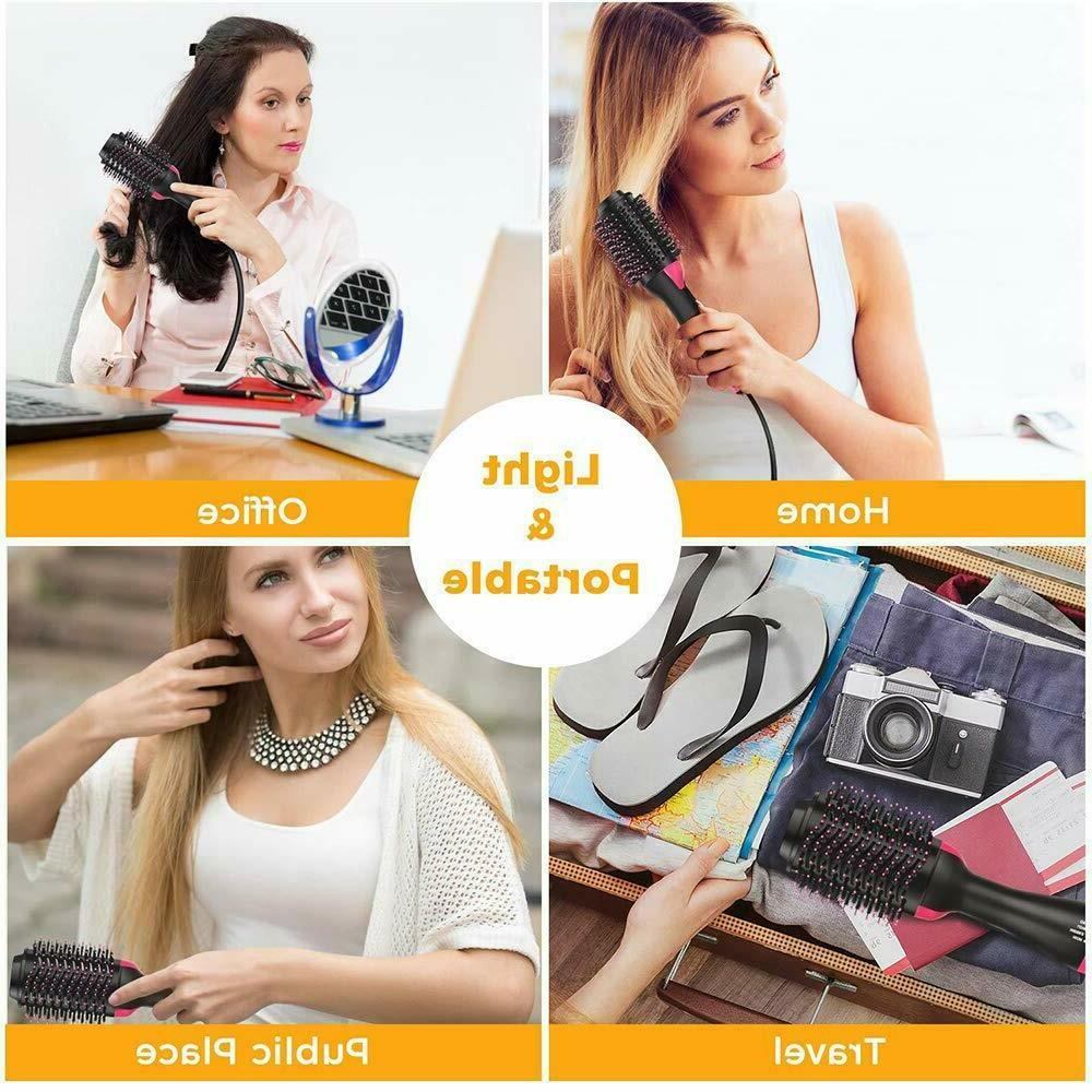 Hair Dryer Brush Coating Step and Volumizer 4 All Hair