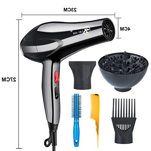 Hair Dryer Negative Low Noise Hairdryers and Comb Made Tested -