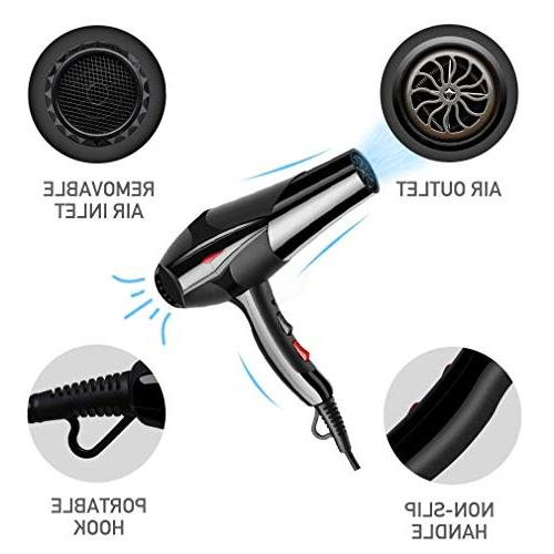 Hair Dryer 3000W Speed and 3 Heat Setting and 5 for and Hair