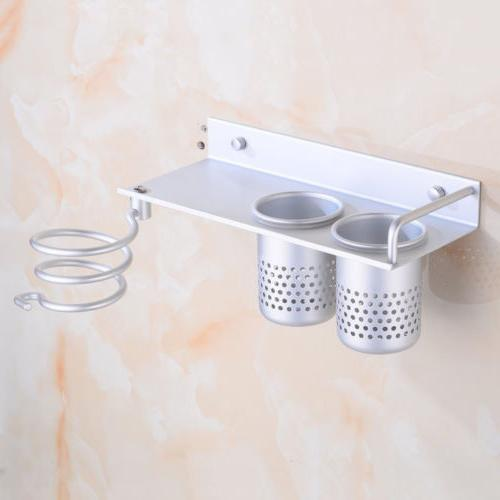 Hair Organizer Rack Hanger Wall Bathroom Set