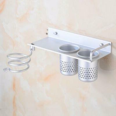 Hair Dryer Storage Organizer Wall Bathroom