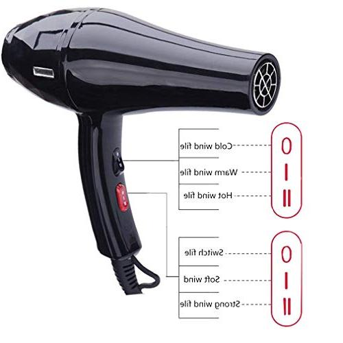 Hair Ionic Motor 2 Settings with Nozzles Design,for Salon,Household