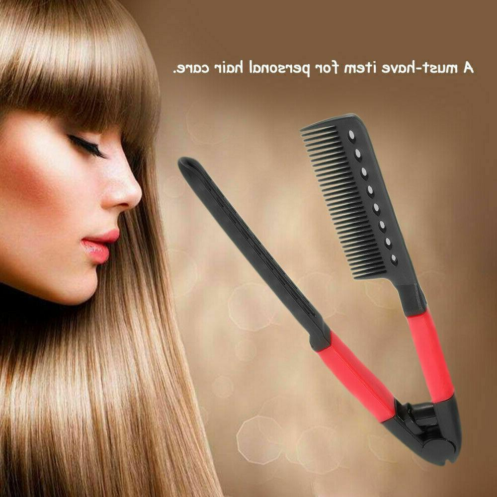 Hair Straightener Spring Grip Straightening Iron Help