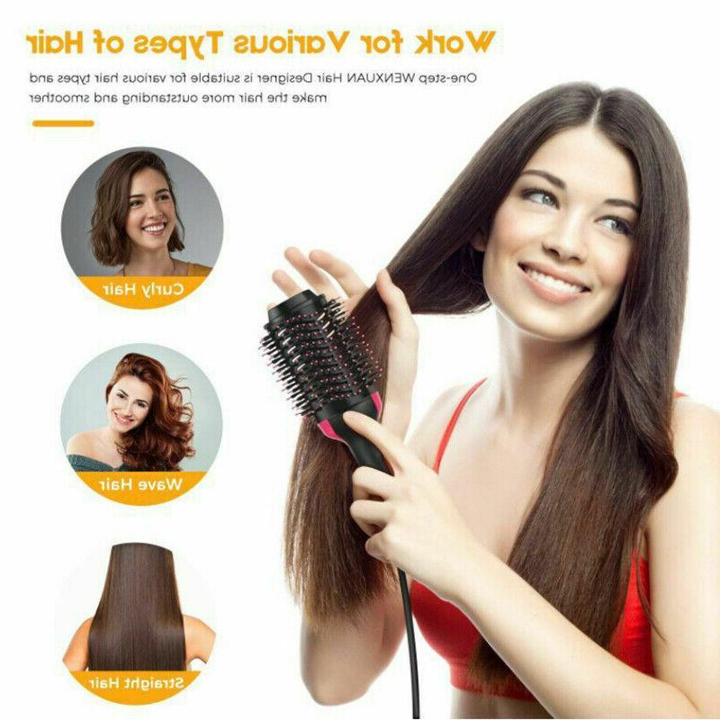 HOT! Hair Brush Straightening Curling Comb