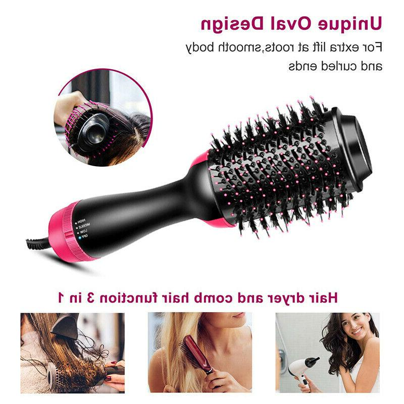 2In1 One Step Hair Dryer&Volumizer Brush Styler Straightenin