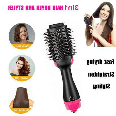 3in1 Pro One Step Hair Blow Dryer & Volumizer Curler Comb St