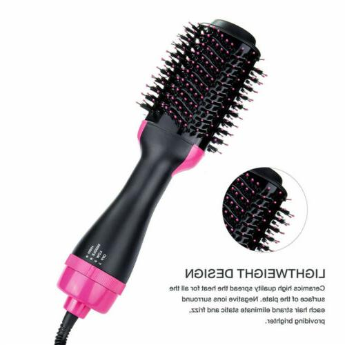 Hot Air Hair Brush One Step With Ion Dryer