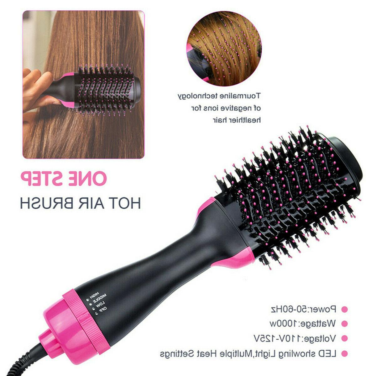 Hot Hair Negative Ion One Step Styling Brush Straight/Curl US