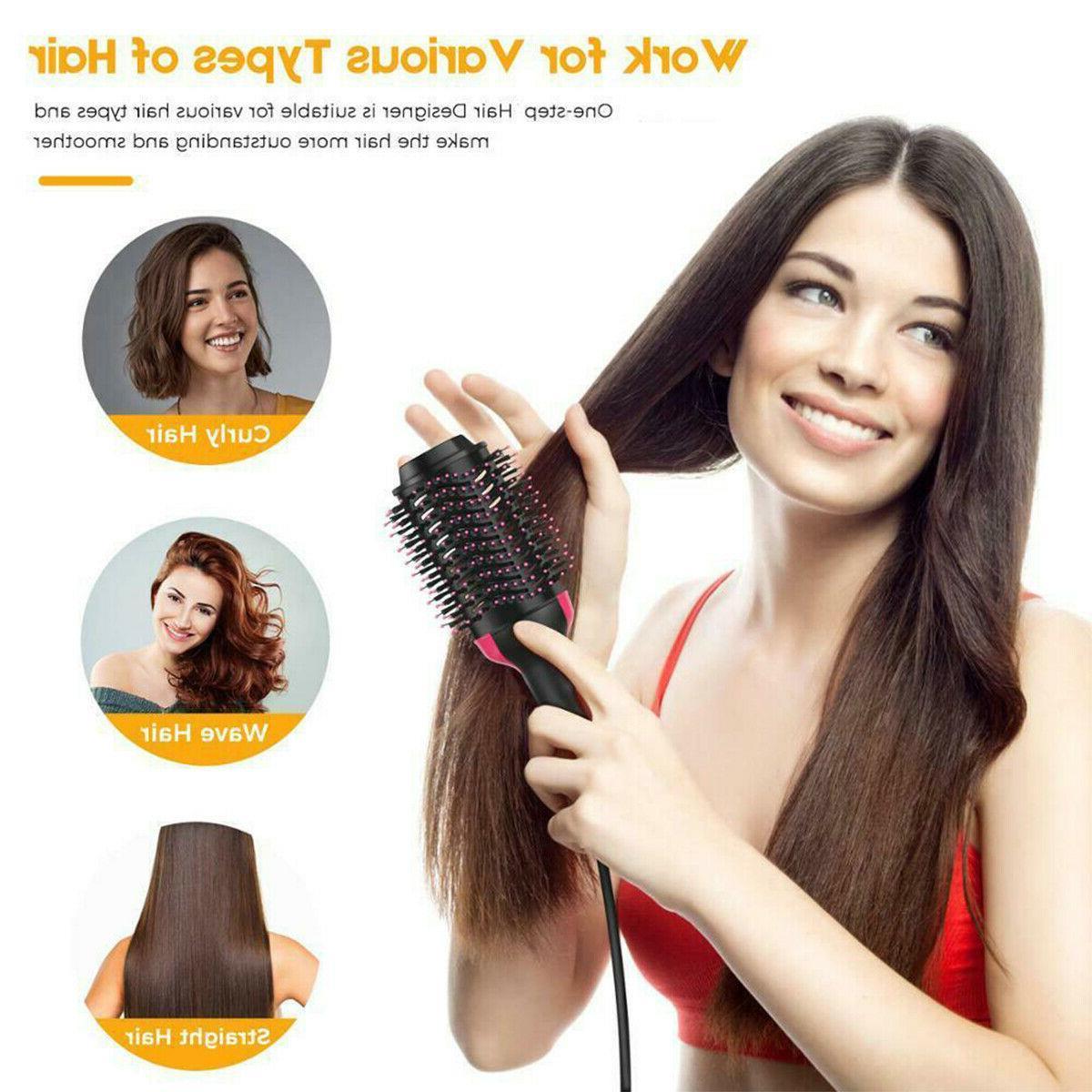 Hot Air Hair Dryer Negative Styling Blower Brush US