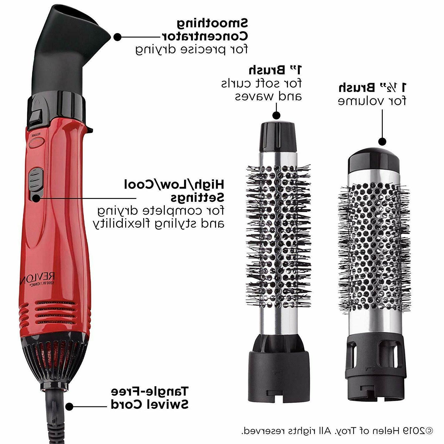 Hot Air Curling Iron Brush Styler 1200w Blow Dryer Volume Ha
