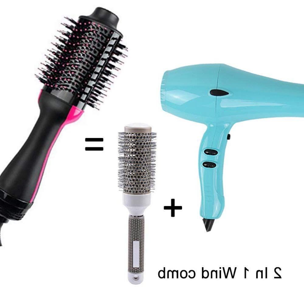 Hot IDS-NEW-One <font><b>Dryer</b></font> Volumizer, Salon Air Paddle Styling <font><b>Brush</b></font> Generator Straighten
