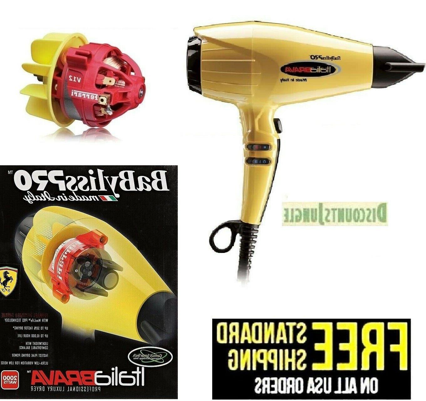 italia brava luxury salon hair dryer 2000w