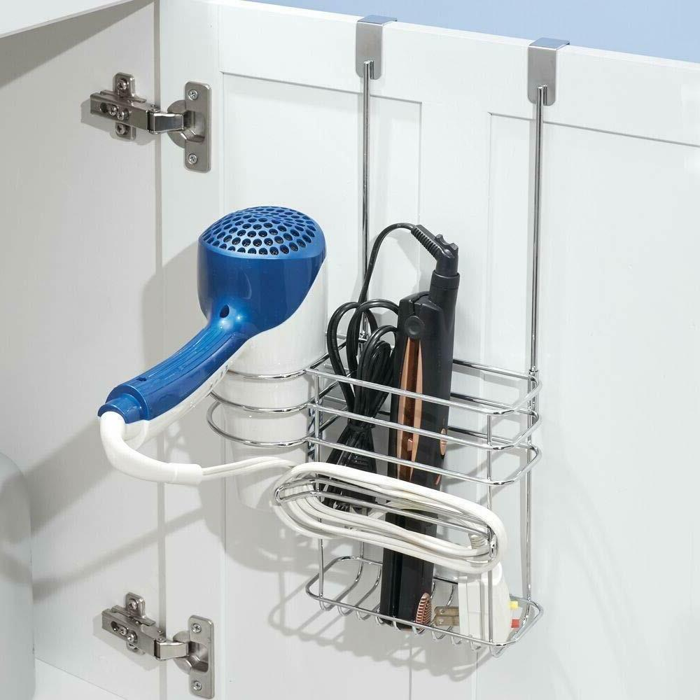 mDesign Metal Over Hair Care Tool Storage