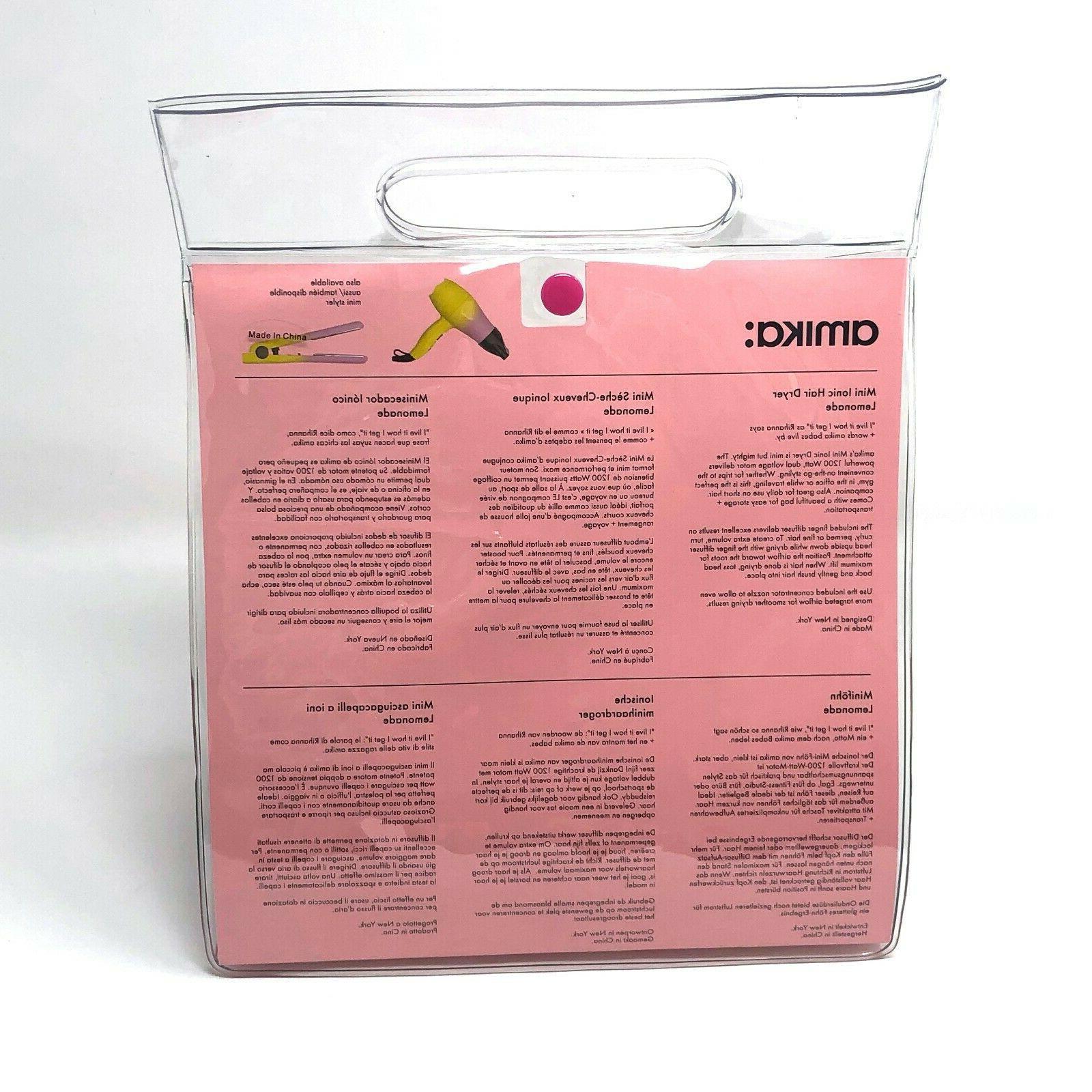 amika Ionic Blow Dryer Lemonade brand new watt