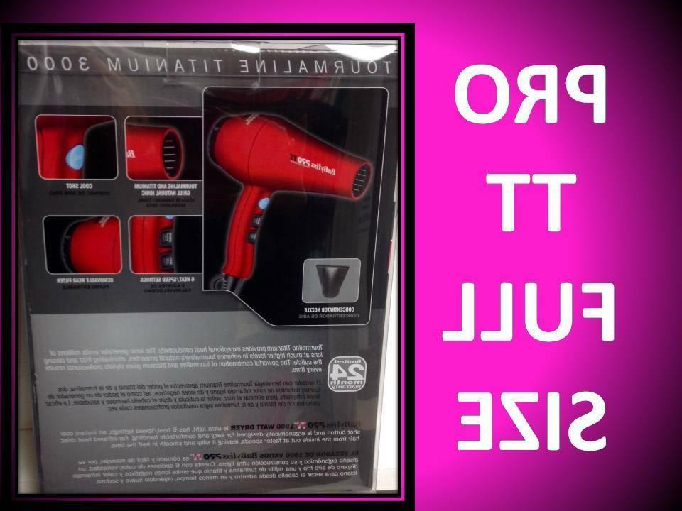 NEW BABYLISS PRO 3000 TOURMALINE TITANIUM IONIC RED HAIR DRYER BABTT5585