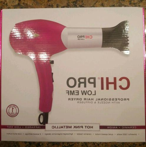nwt pro low emf pro hair dryer