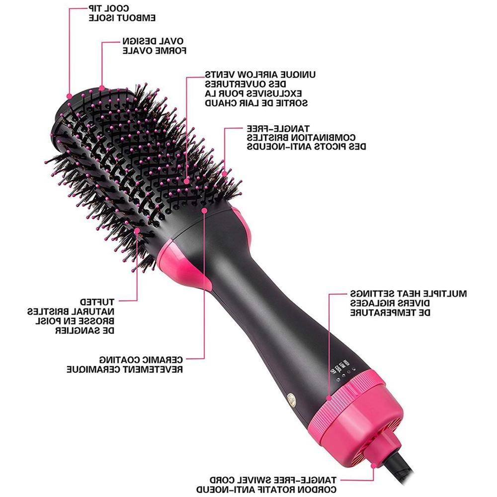 One Step <font><b>Hair</b></font> <font><b>Dryer</b></font> and Volumizer, Salon Hot Air Styling Brush <font><b>Hair</b></font> Curler