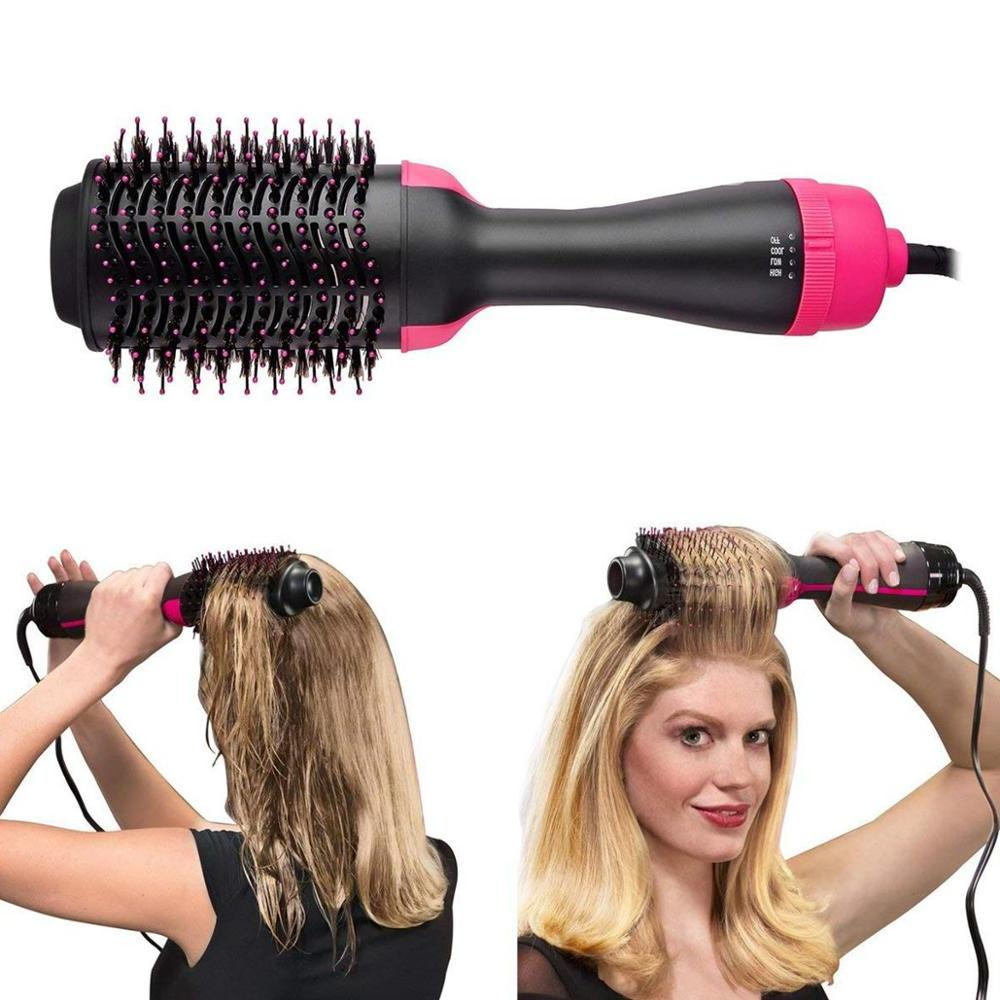 One <font><b>Hair</b></font> and Hot Air Paddle Styling Brush Negative <font><b>Hair</b></font> Straightener Curler