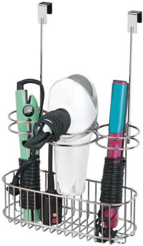 mDesign Over-Cabinet Hair Care Tools Holder for Hair Dryer,