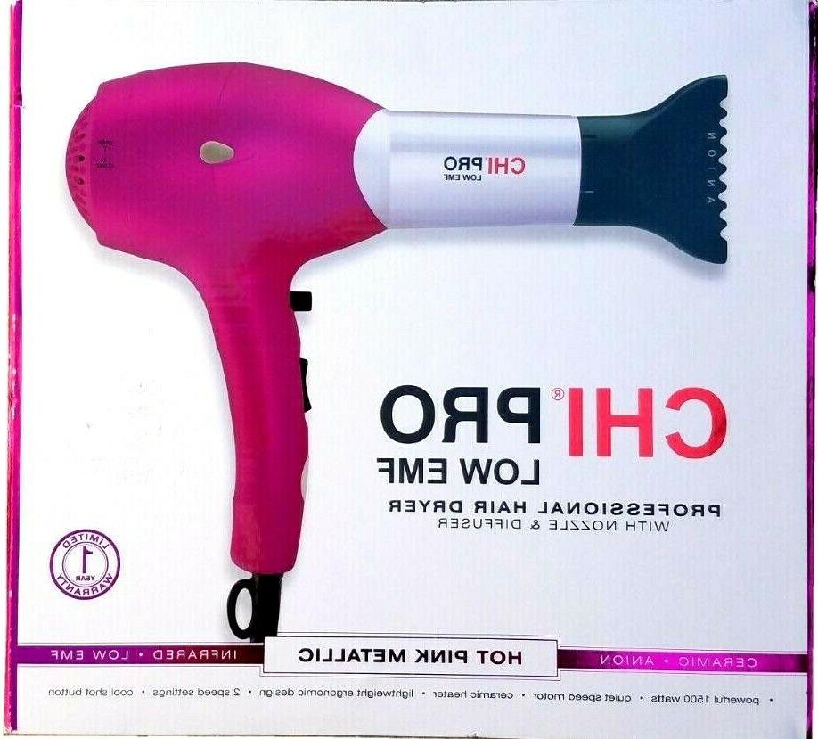 CHI PRO ceramic Anion Infrared hair Dryer  witth Diffuser&Co