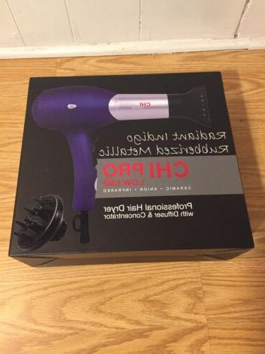 pro low emf professional hair dryer w