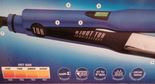 """Hot Tools Blue 1 1/2"""" Salon Flat & Turbo 1875w NwT"""