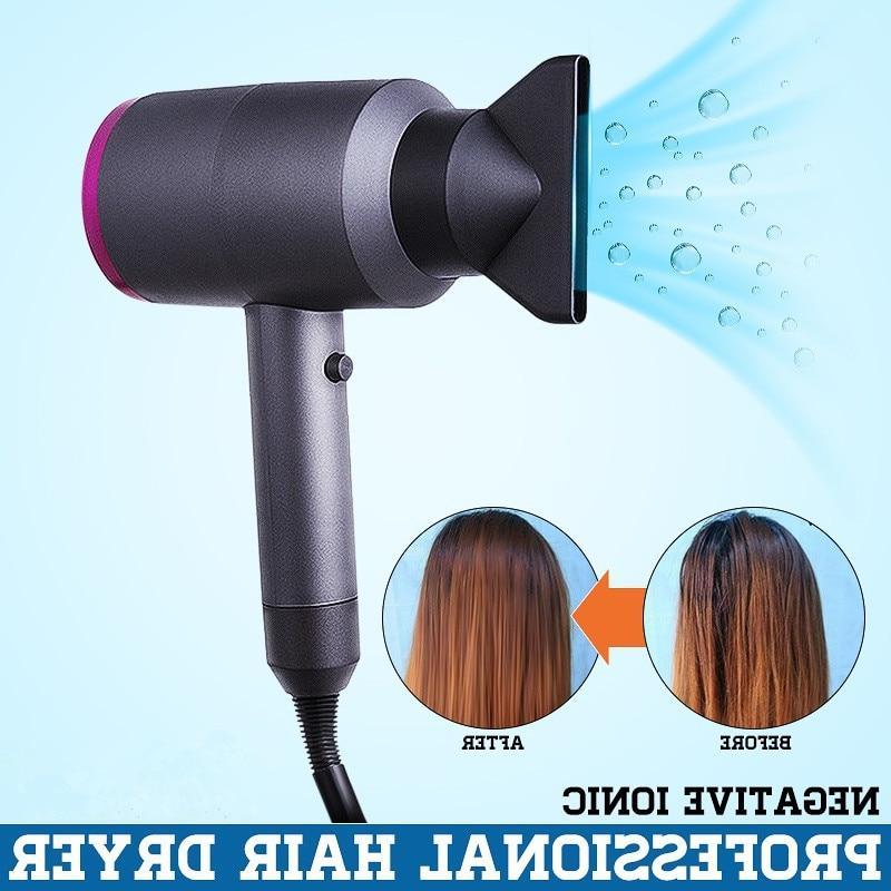Professional <font><b>blow</b></font> <font><b>dryer</b></font> 1 110-240V Mini Travel Hair <font><b>Dryer</b></font> DC motor