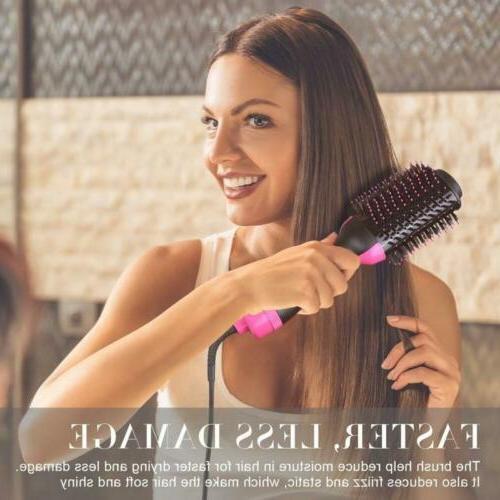 2 Hair Blow Straightener Curler Comb Brush US
