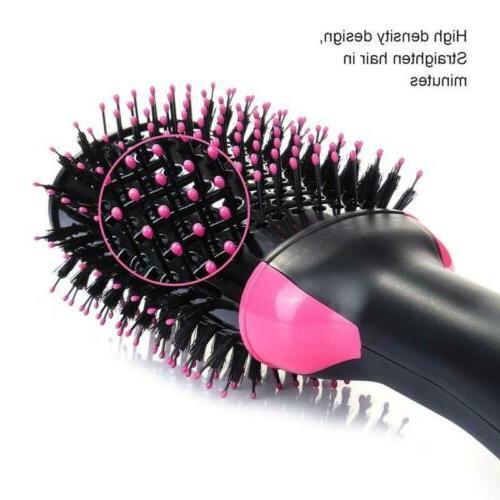 2 in1 Blow & Straightener Curler Comb Brush US