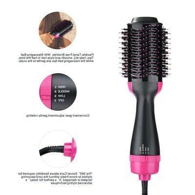 2 In 1 One Step Hair Dryer Volumizer Brush Straightening Iron