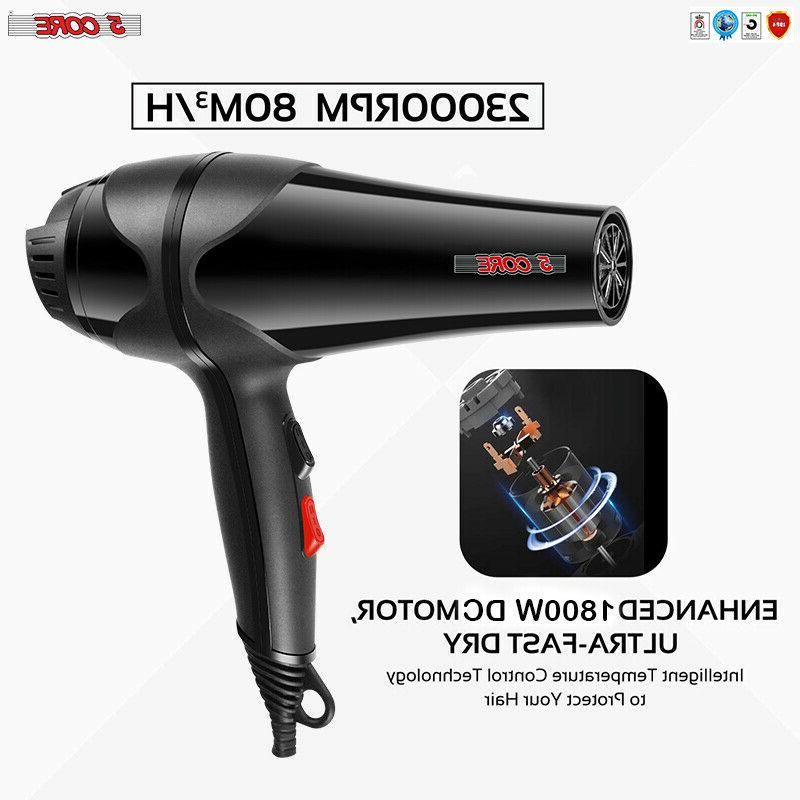 5 Core Professional Hair Blow Blower 1875W Quiet Styling Pik