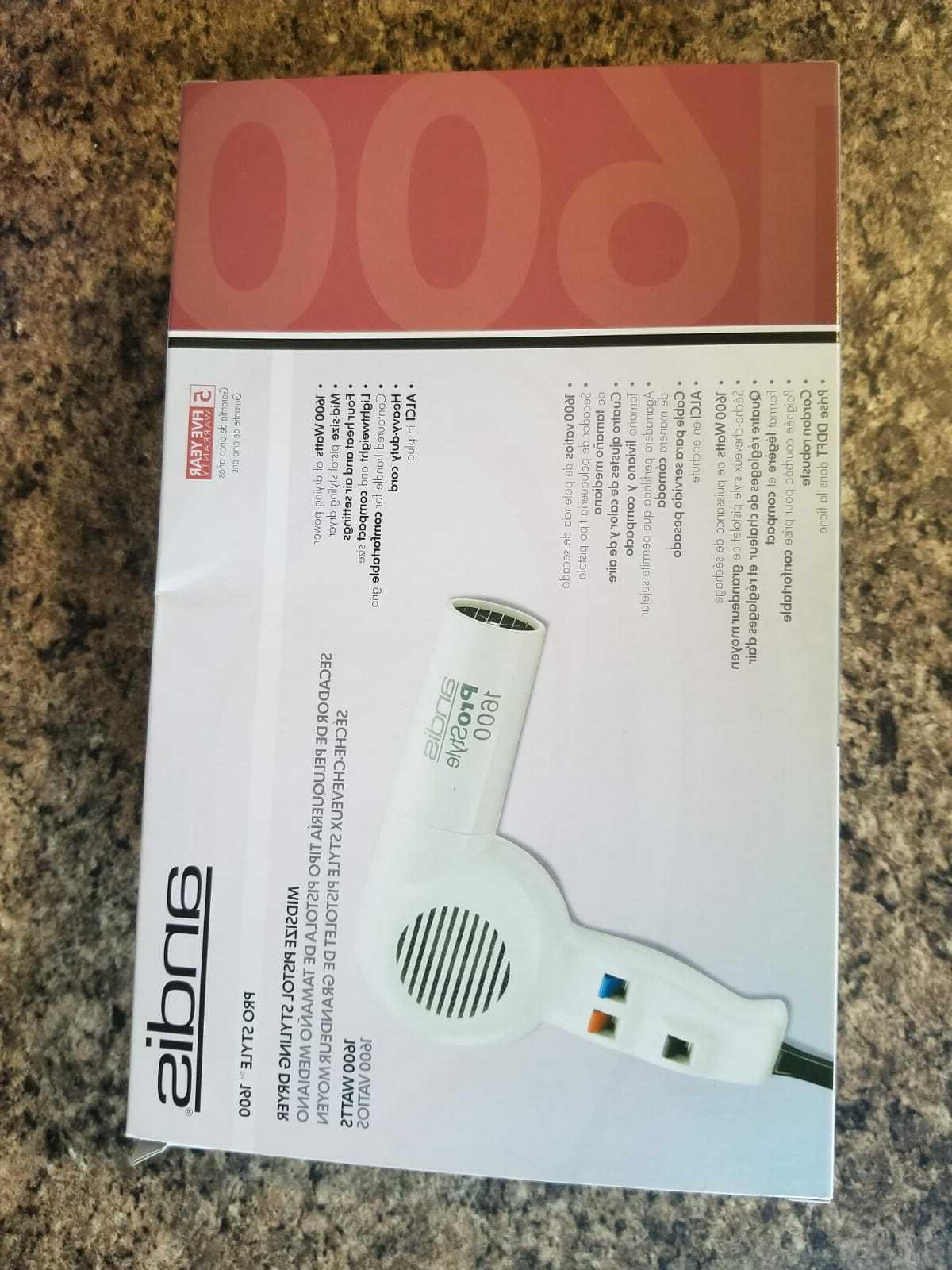 prostyle 1600 watts hair dryer white