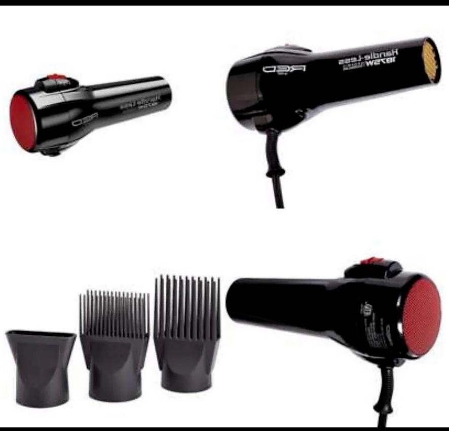 red by handle less 1875w ceramic hair