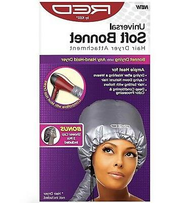 red by universal soft bonnet hair dryer