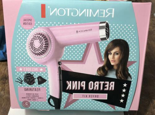 retro hair dryer d4100 pink w attachments
