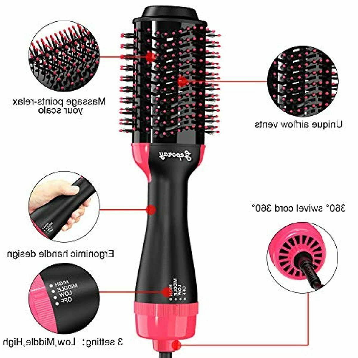 Revlon Hair & Volumizer Brush PINK Black