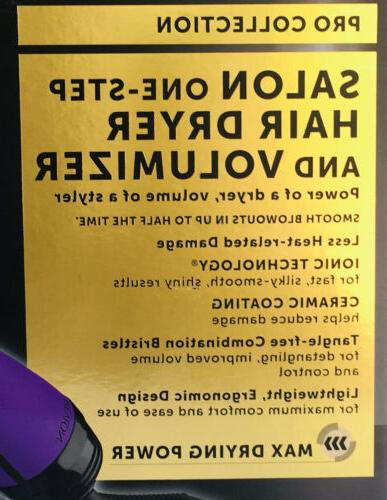 Revlon Salon Step Hair Dryer Volumizer Purple SPECIAL LIMITED EDITION